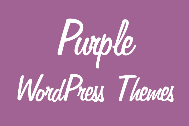 30+ Free and Premium Purple WordPress Themes