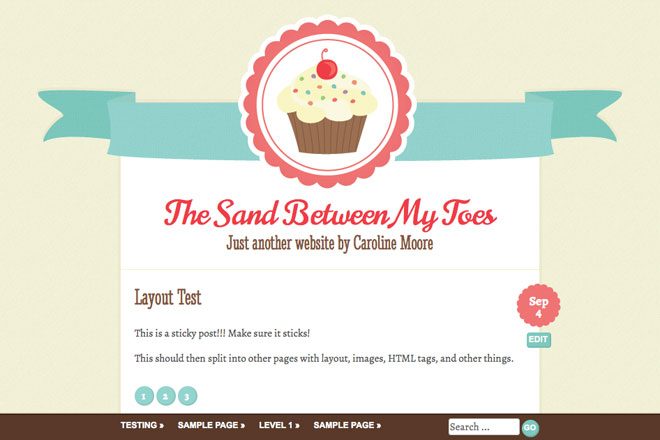 Buttercream WordPress Theme