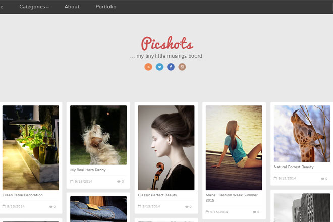 Picshots Blogger Template
