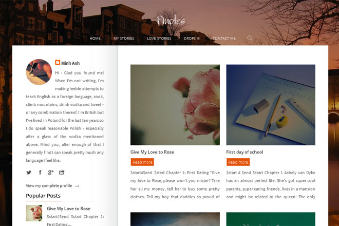Pinotes Blogger Template